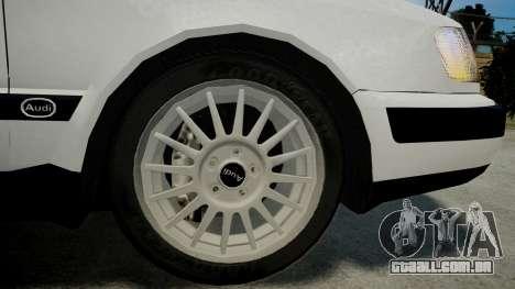 Audi 100 C4 1993 para GTA 4 traseira esquerda vista