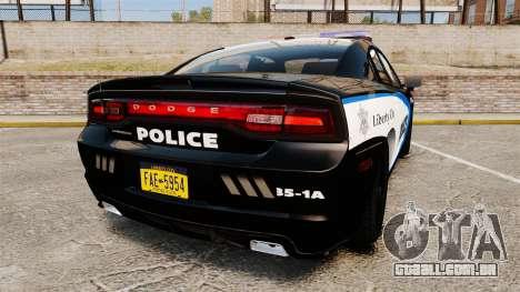 Dodge Charger 2013 Liberty City Police [ELS] para GTA 4 traseira esquerda vista