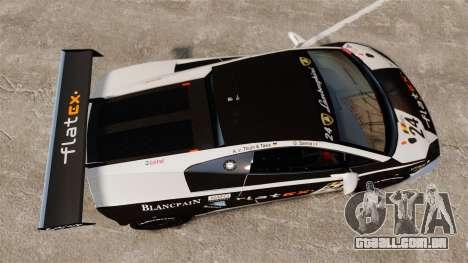 Lamborghini Gallardo LP560-4 GT3 2010 Flatex para GTA 4 vista direita