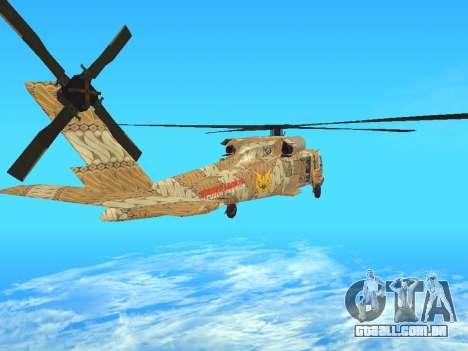 SH-60  Batik Indonesia para GTA San Andreas traseira esquerda vista