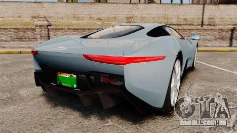 Jaguar C-X75 2014 [EPM] para GTA 4 traseira esquerda vista