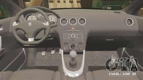 Peugeot 308 GTi 2011 Guardia Civil para GTA 4 vista lateral