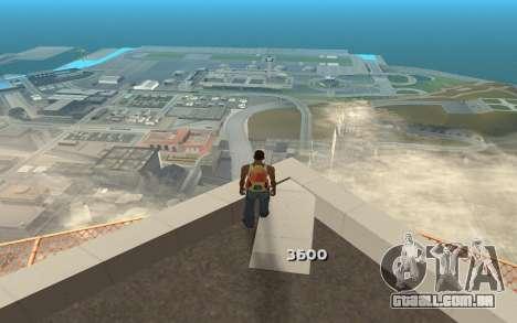 Alterar o intervalo de renderização para GTA San Andreas por diante tela