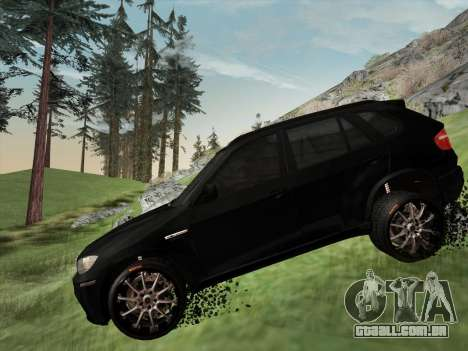 BMW X5M E70 2010 para GTA San Andreas vista superior