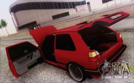 Volkswagen Golf Mk 2 para vista lateral GTA San Andreas