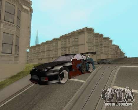 Nissan 150sx Evil Empire para GTA San Andreas traseira esquerda vista