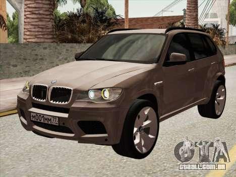 BMW X5M E70 2010 para GTA San Andreas esquerda vista