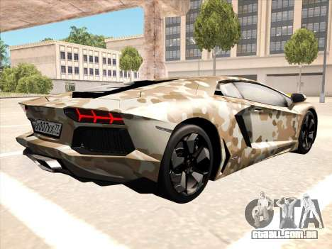 Lamborghini Aventador LP700-4 2013 para GTA San Andreas esquerda vista