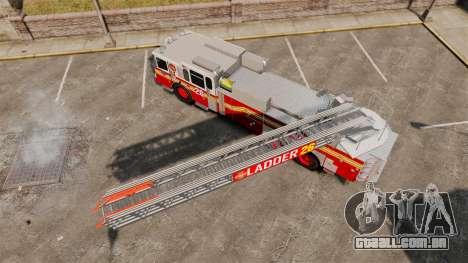 Ferrara 100 Aerial Ladder FDNY [working ladder] para GTA 4 vista direita