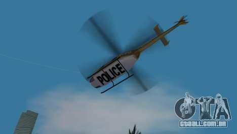 Helicóptero da polícia do GTA VCS para GTA Vice City vista interior
