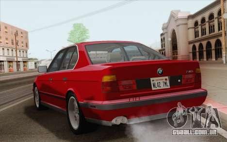BMW M5 E34 1991 NA-spec para GTA San Andreas vista direita