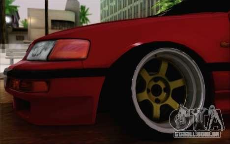 Honda CRX Low Gang para GTA San Andreas traseira esquerda vista