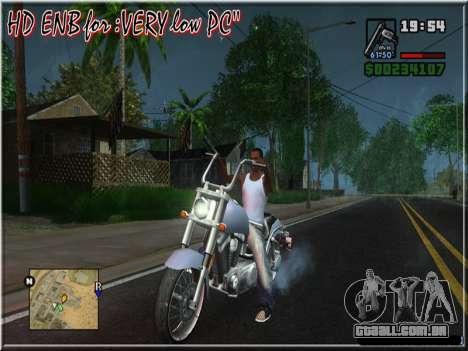HD ENB for very low PC para GTA San Andreas quinto tela