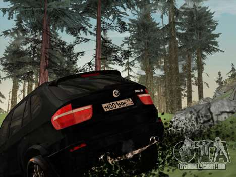 BMW X5M E70 2010 para GTA San Andreas vista inferior