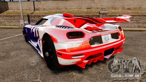 Koenigsegg One:1 para GTA 4 traseira esquerda vista