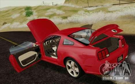 Ford Mustang GT 2005 para o motor de GTA San Andreas