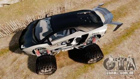 Lamborghini Aventador LP700-4 [Monster truck] para GTA 4 vista direita