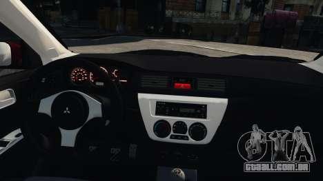 Mitsubishi Lancer Evolution IX para GTA 4 vista direita
