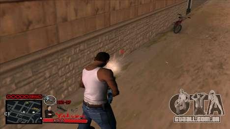 C-HUD Yakuza para GTA San Andreas por diante tela