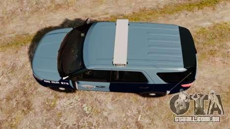 Ford Explorer 2013 MSP [ELS] para GTA 4 vista direita