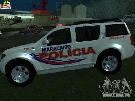 Nissan Pathfinder Polimaracaibo para GTA San Andreas esquerda vista