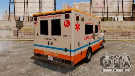 Brute LSMC Paramedic para GTA 4 traseira esquerda vista