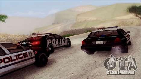 Ford Crown Victoria Police Interceptor para GTA San Andreas vista superior