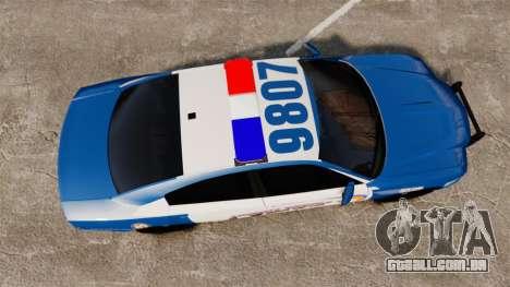 Dodge Charger 2013 Liberty County Police [ELS] para GTA 4 vista direita