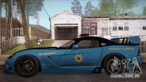 Dodge Viper SRT 10 ACR Police Car para GTA San Andreas esquerda vista