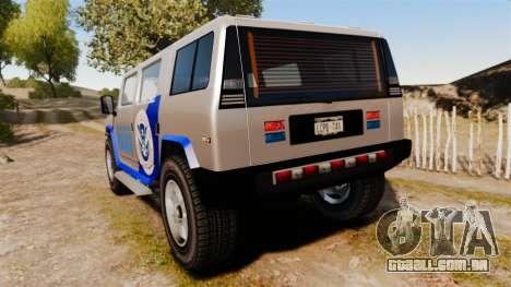 Patriot Police v2.0 para GTA 4 traseira esquerda vista