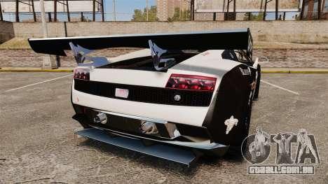 Lamborghini Gallardo LP560-4 GT3 2010 Flatex para GTA 4 traseira esquerda vista