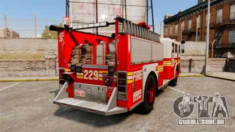 Fire Truck v1.4A FDLC [ELS] para GTA 4 traseira esquerda vista