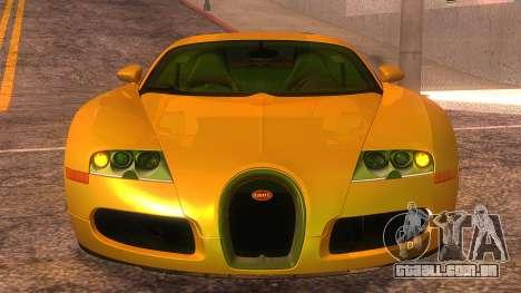 Bugatti Veyron 2009 para GTA San Andreas vista traseira