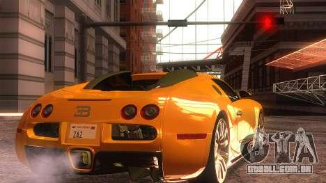 Bugatti Veyron 2009 para GTA San Andreas esquerda vista
