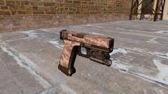 Pistola Glock De 20 Red Tiger para GTA 4