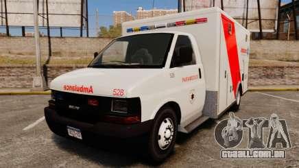 Brute Speedo RLMS Ambulance [ELS] para GTA 4