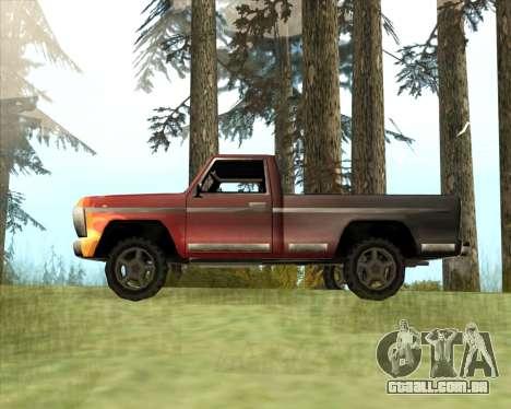 O Novo Jeep (Yosemite) para GTA San Andreas esquerda vista
