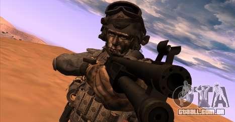 Tenente David Hesh Walker из Call Of Duty: Ghost para GTA San Andreas por diante tela