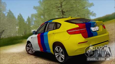 BMW X6M E71 2013 300M Wheels para GTA San Andreas vista inferior