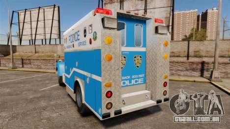Mack R Bronx 1993 NYPD Emergency Service [ELS] para GTA 4 traseira esquerda vista