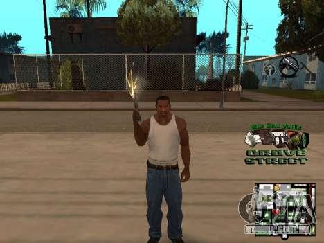 С-HUD Grove Street para GTA San Andreas por diante tela