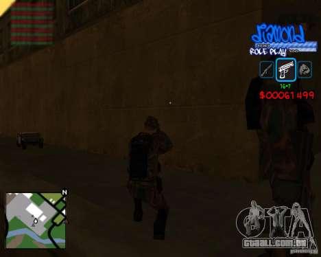 C-Hud Diamond RP para GTA San Andreas por diante tela