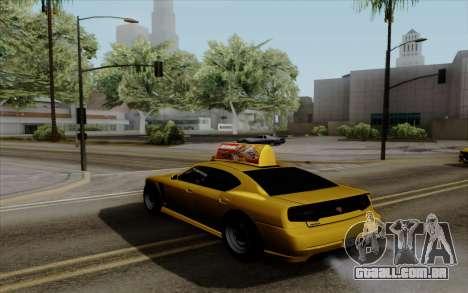 Buffalo Taxi para GTA San Andreas esquerda vista