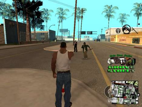 С-HUD Grove Street para GTA San Andreas segunda tela