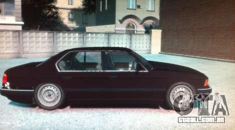 BMW 735iL E32 ver 2 para GTA 4 esquerda vista