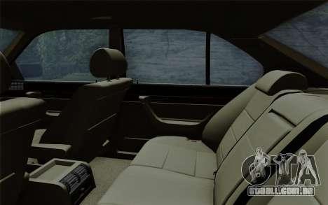 BMW 540i (E34) para GTA San Andreas vista inferior