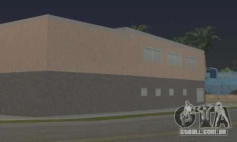 New gym para GTA San Andreas por diante tela