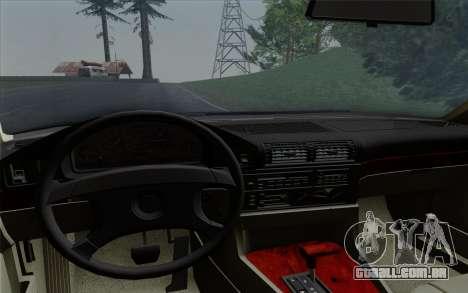 BMW 540i (E34) para GTA San Andreas vista superior