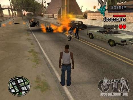 C-HUD Energy para GTA San Andreas quinto tela