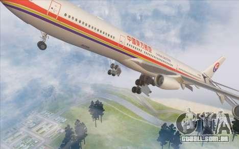 Airbus A340-300 China Eastern para GTA San Andreas vista inferior